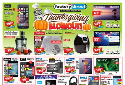 Factory Direct Flyer October 9 to 16