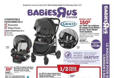 Babies R Us (QC) Flyer October 10 to 16