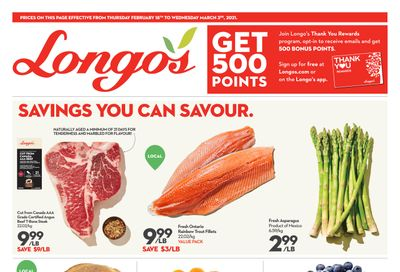 Longo's Flyer February 18 to March 3