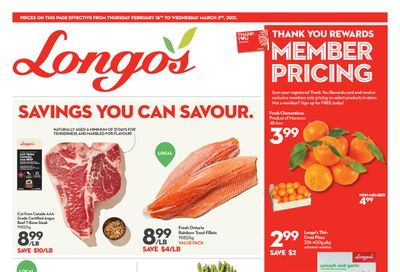 Longo's (Liberty Village) Flyer February 18 to March 3