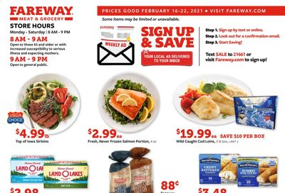 Fareway (IA, IL, MN, MO, NE, SD) Weekly Ad Flyer February 16 to February 22