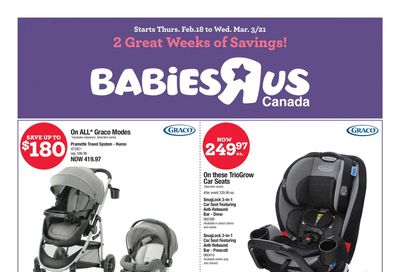 Babies R Us Flyer February 18 to March 3