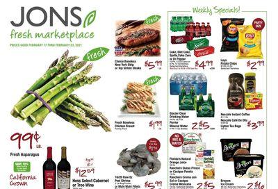 JONS Fresh Marketplace Weekly Ad Flyer February 17 to February 23, 2021