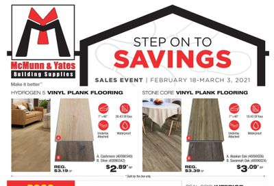 McMunn & Yates Building Supplies Flyer February 18 to March 3
