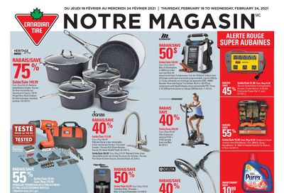 Canadian Tire (QC) Flyer February 18 to 24