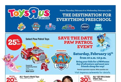 Toys R Us Flyer February 6 to 12