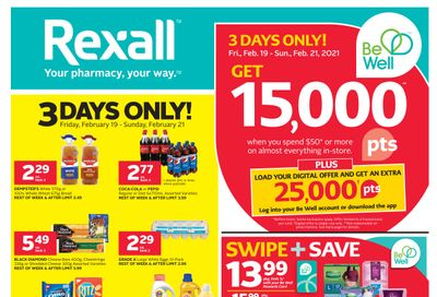 Rexall (West) Flyer February 19 to 25