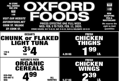 Oxford Foods Flyer February 5 to 11