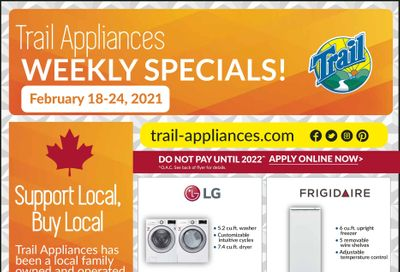 Trail Appliances (AB & SK) Flyer February 18 to 24