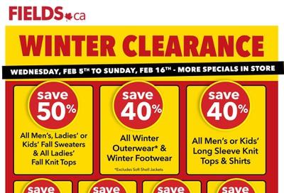 Fields.ca Flyer February 5 to 16