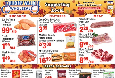 Bulkley Valley Wholesale Flyer October 9 to 15
