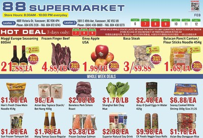 88 Supermarket Flyer February 6 to 12