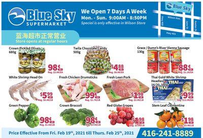 Blue Sky Supermarket (North York) Flyer February 19 to 25
