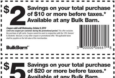 Bulk Barn Canada coupon: October 3 - 9