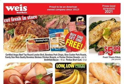 Weis Weekly Ad Flyer February 18 to February 25