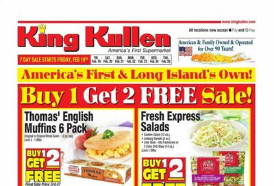 King Kullen Weekly Ad Flyer February 19 to February 25