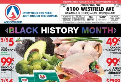 Associated Supermarkets Weekly Ad Flyer February 19 to February 25