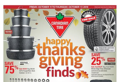 Canadian Tire (West) Flyer October 11 to 17