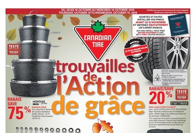 Canadian Tire (QC) Flyer October 10 to 16