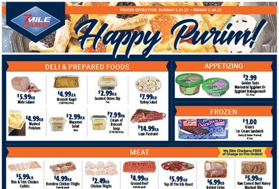 7 Mile Market Purim Special Weekly Ad Flyer February 21 to February 26, 2021