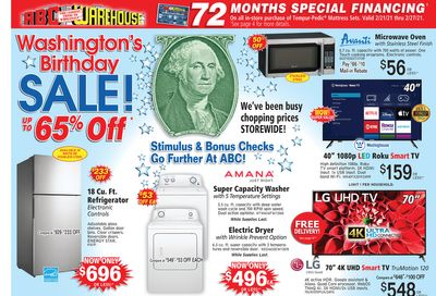 ABC Warehouse Weekly Ad Flyer February 21 to February 27, 2021