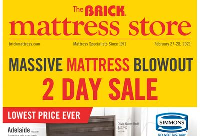 The Brick Mattress Store Flyer February 23 to March 3