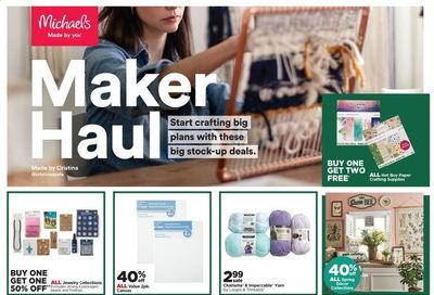 Michaels Weekly Ad Flyer February 21 to February 27