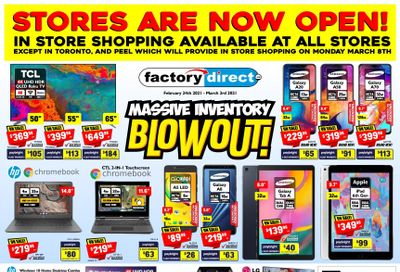 Factory Direct Flyer February 24 to March 3