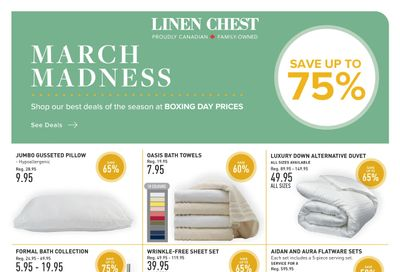 Linen Chest Flyer February 24 to March 21