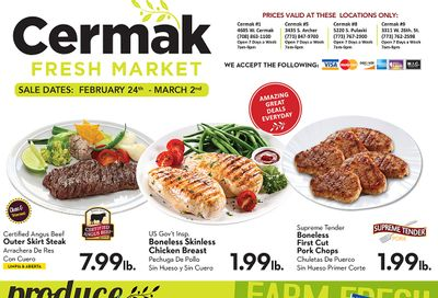 Cermak Fresh Market (IL) Weekly Ad Flyer February 24 to March 2, 2021