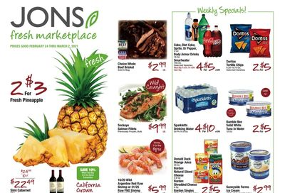 JONS Fresh Marketplace Weekly Ad Flyer February 24 to March 2, 2021
