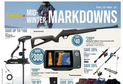 Cabela's Flyer February 25 to March 10