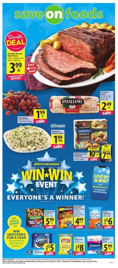 Save on Foods (BC) Flyer February 25 to March 3