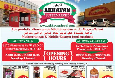 Akhavan Supermarche Flyer February 24 to March 2