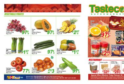 Tasteco Supermarket Flyer February 26 to March 4