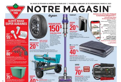 Canadian Tire (QC) Flyer February 25 to March 3
