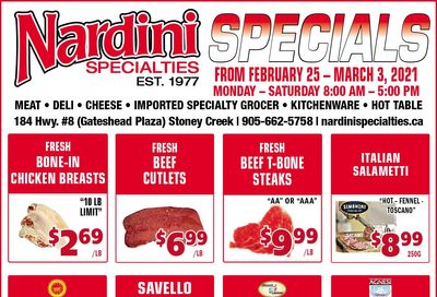 Nardini Specialties Flyer February 25 to March 3