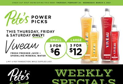 Pete's Fine Foods Flyer February 25 to March 3