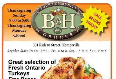 B&H Your Community Grocer Flyer October 11 to 17