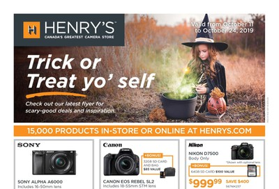 Henry's Flyer October 11 to 24