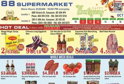 88 Supermarket Flyer October 10 to 16