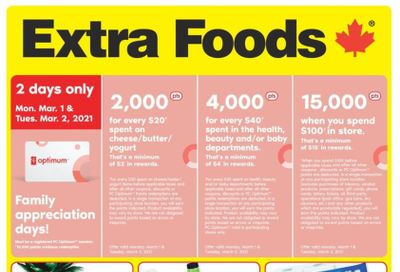 Extra Foods Flyer February 26 to March 4