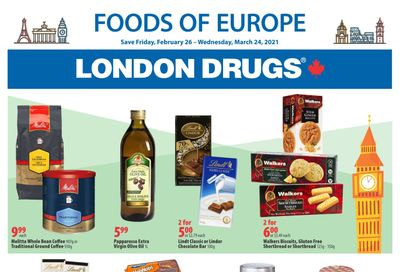 London Drugs Foods of Europe Flyer February 26 to March 24