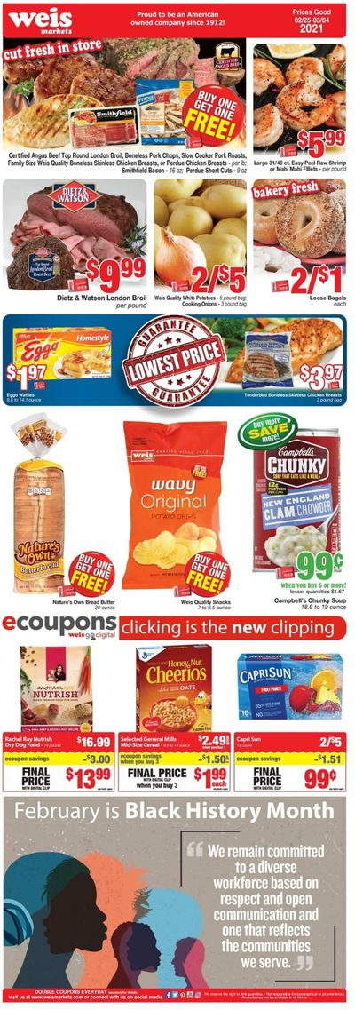 Weis Weekly Ad Flyer February 25 to March 4