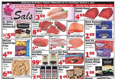 Sal's Grocery Flyer February 26 to March 4