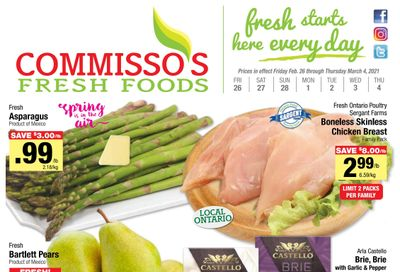 Commisso's Fresh Foods Flyer February 26 to March 4