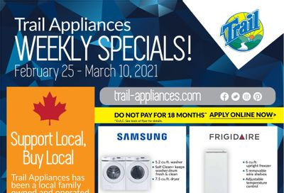Trail Appliances (AB & SK) Flyer February 25 to March 10