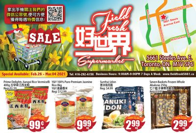 Field Fresh Supermarket Flyer February 26 to March 4