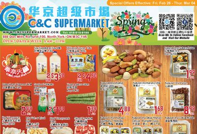 C&C Supermarket Flyer February 26 to March 4