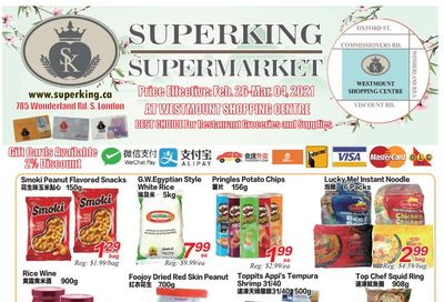 Superking Supermarket (London) Flyer February 26 to March 4